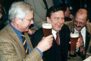 Max Brandl mit Gerhard Schröder