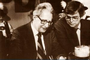 Max Brandl mit Hans-Jochen Vogl