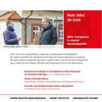 Mehr Transparenz in der Gemeindepolitik