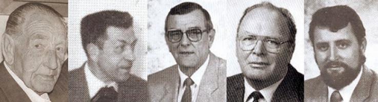 Verdiente SPD-Gemeinderäte: Ludwig Neustifter | Matthias Stelzer | Josef Seibold | Günter Meisinger | Albert Kainz