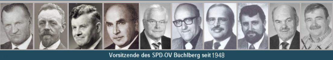 Die Vorsitzenden der SPD Büchlberg seit 1948